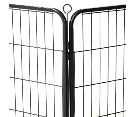 "vidaXL Dog Playpen 12 Panels Steel 31.5""x23.6"" Black[7/9]"