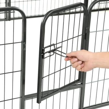"vidaXL Dog Playpen 12 Panels Steel 31.5""x23.6"" Black[8/9]"
