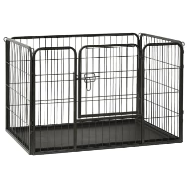 vidaXL Ograda za pasje mladičke jeklo 93x63x61cm[1/8]