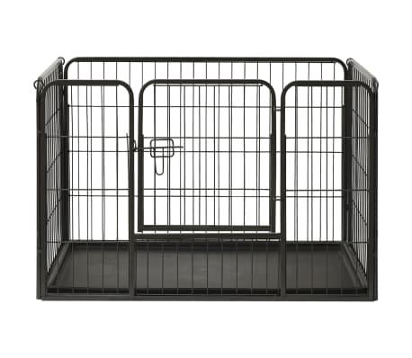 vidaXL Ograda za pasje mladičke jeklo 93x63x61cm[2/8]