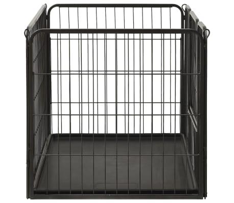 vidaXL Ograda za pasje mladičke jeklo 93x63x61cm[4/8]