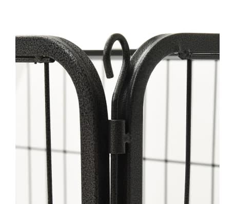 vidaXL Ograda za pasje mladičke jeklo 93x63x61cm[6/8]