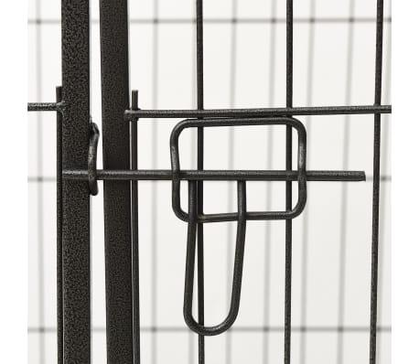 vidaXL Ograda za pasje mladičke jeklo 93x63x61cm[7/8]