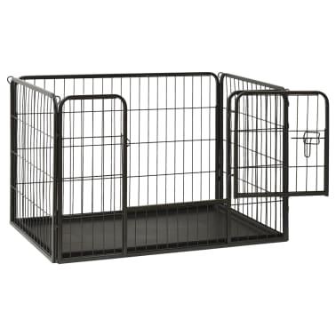 vidaXL Ograda za pasje mladičke jeklo 93x63x61cm[3/8]