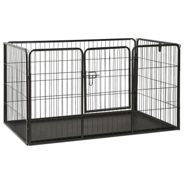 vidaXL Ograda za pasje mladičke kovinska 125x80x70 cm[1/7]