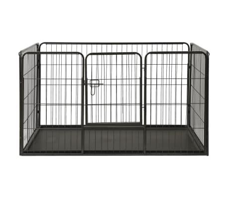 vidaXL Ograda za pasje mladičke kovinska 125x80x70 cm[2/7]
