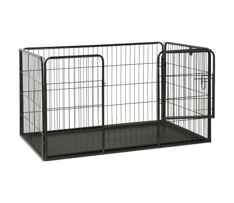 vidaXL Ograda za pasje mladičke kovinska 125x80x70 cm[3/7]