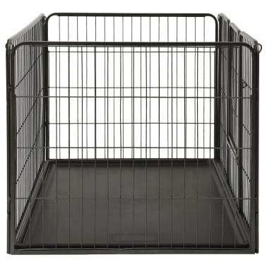 vidaXL Ograda za pasje mladičke kovinska 125x80x70 cm[4/7]
