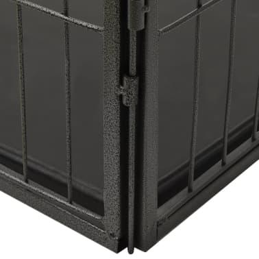 vidaXL Ograda za pasje mladičke kovinska 125x80x70 cm[5/7]
