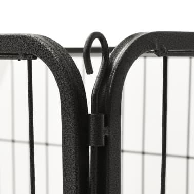 vidaXL Ograda za pasje mladičke kovinska 125x80x70 cm[6/7]