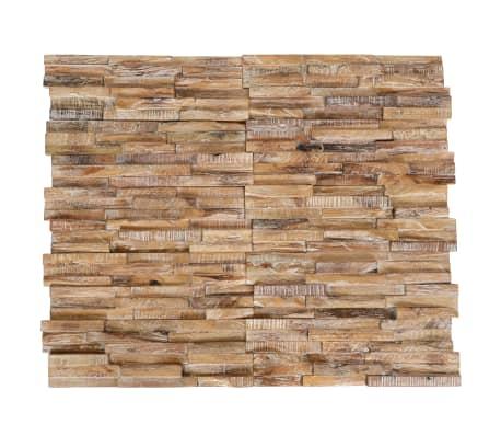 vidaXL Ścienne panele okładzinowe 3D, 10 szt., drewno tekowe, 1 m²