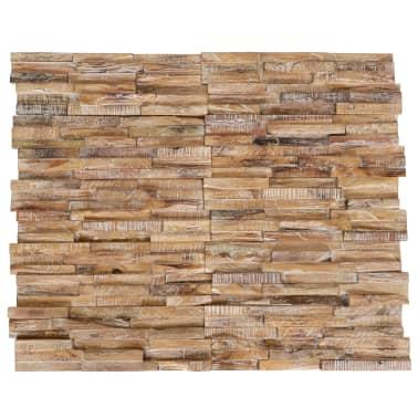 vidaXL Nástenné 3D obkladové panely z teakového dreva, 10 ks, 1 m²[1/5]