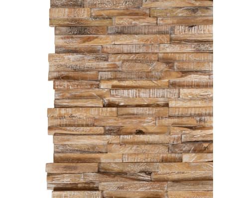 vidaXL Nástenné 3D obkladové panely z teakového dreva, 10 ks, 1 m²[2/5]