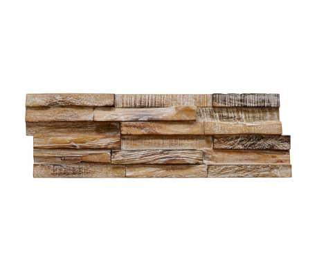 vidaXL Nástenné 3D obkladové panely z teakového dreva, 10 ks, 1 m²[4/5]