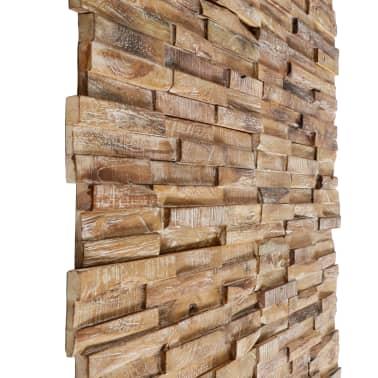 vidaXL Nástenné 3D obkladové panely z teakového dreva, 10 ks, 1 m²[3/5]