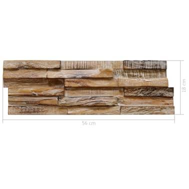 vidaXL Nástenné 3D obkladové panely z teakového dreva, 10 ks, 1 m²[5/5]
