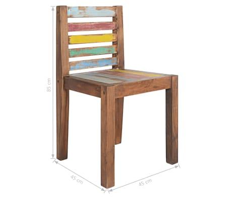 vidaXL Sillas de comedor madera maciza reciclada 2 uds 45x45x85 cm