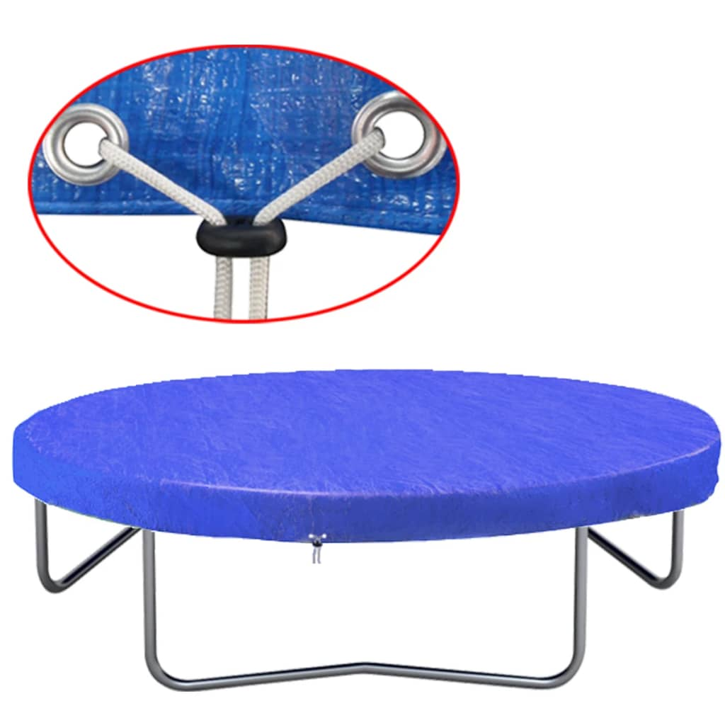 vidaXL Plachta na trampolínu PE 450-457 cm 90 g/m²