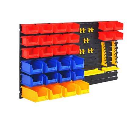 vidaXL Organizador de herramientas de garaje de montaje en la pared[1/6]