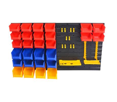 vidaXL Organizador de herramientas de garaje de montaje en la pared[2/6]