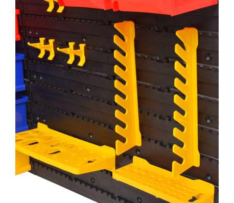 vidaXL Organizador de herramientas de garaje de montaje en la pared[3/6]