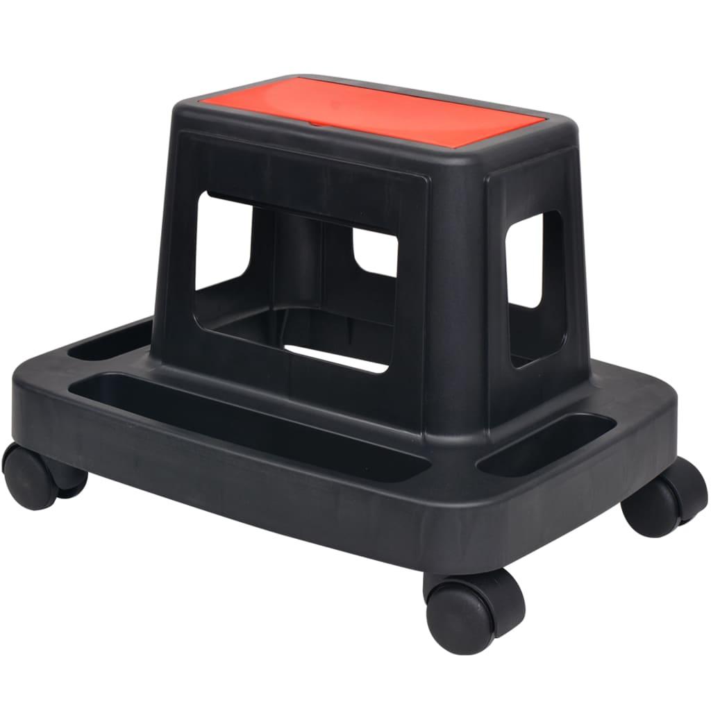 Afbeelding van vidaXL Werkplaatskruk met berging rollend 150 kg
