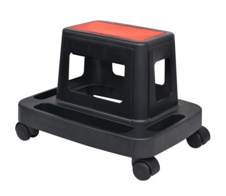 vidaXL Tabouret d'atelier roulant avec rangement 150 kg[1/4]