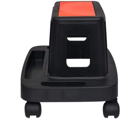 vidaXL Tabouret d'atelier roulant avec rangement 150 kg[3/4]
