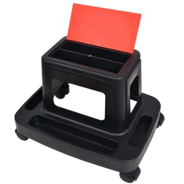 vidaXL Rullande verkstadspall med förvaring 150 kg[4/4]