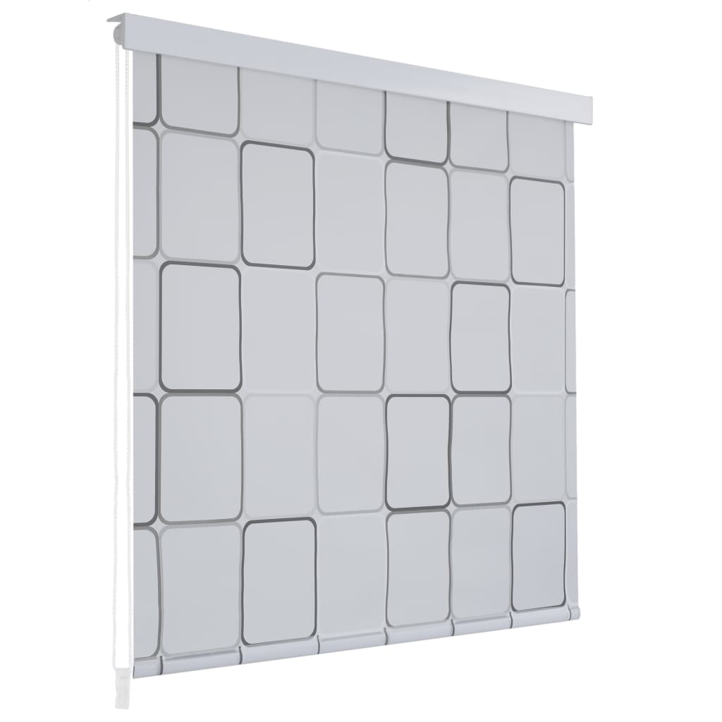 Sprchová roleta 80 x 240 cm s čtvercovým vzorem