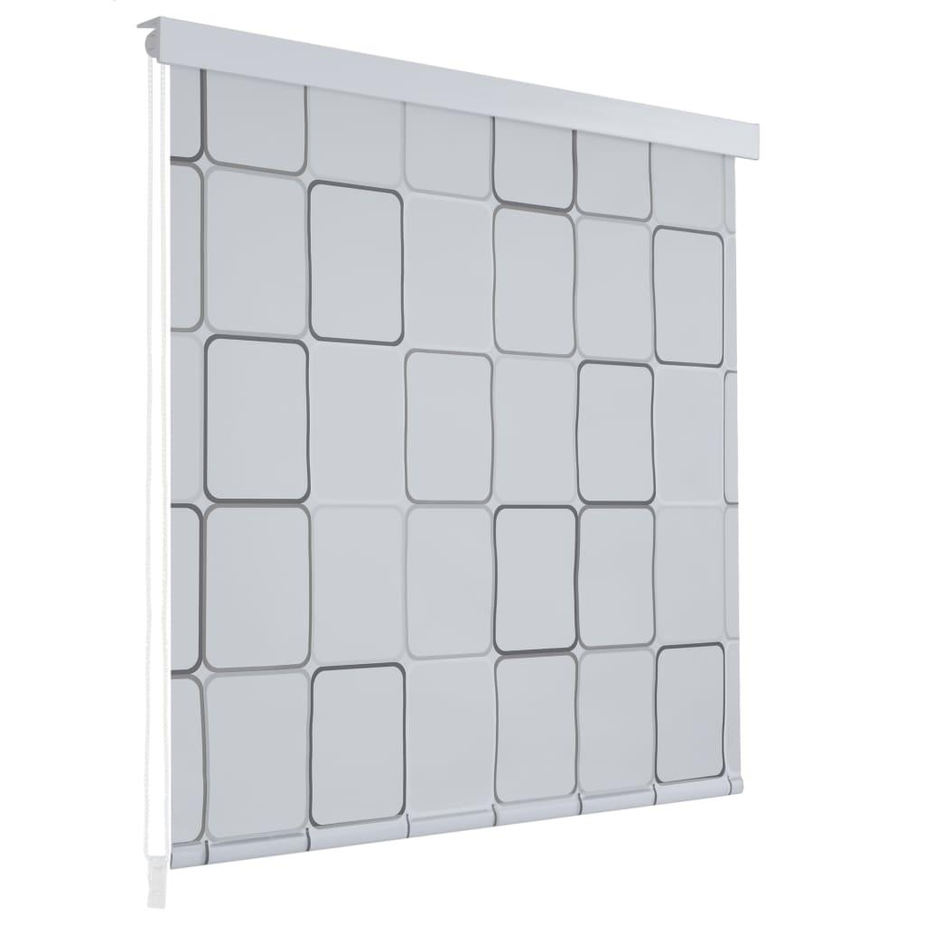 Sprchová roleta 100 x 240 cm se čtvercovým vzorem