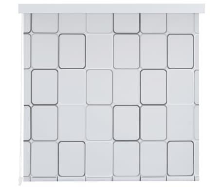 vidaXL Dušo roletas, 120x240 cm, kvadratų raštas[2/6]