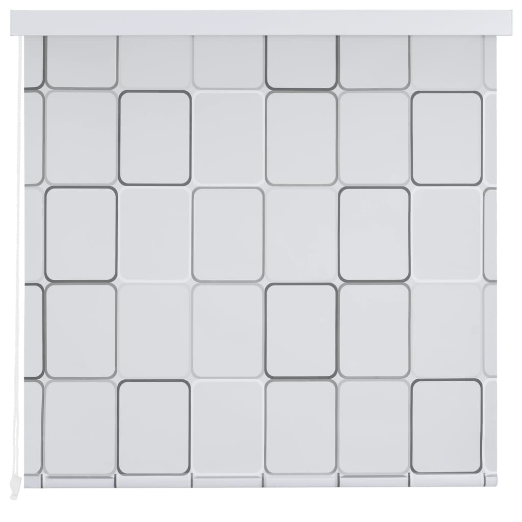 Rolo senčilo za tuš 140x240 cm kvadratni vzorci