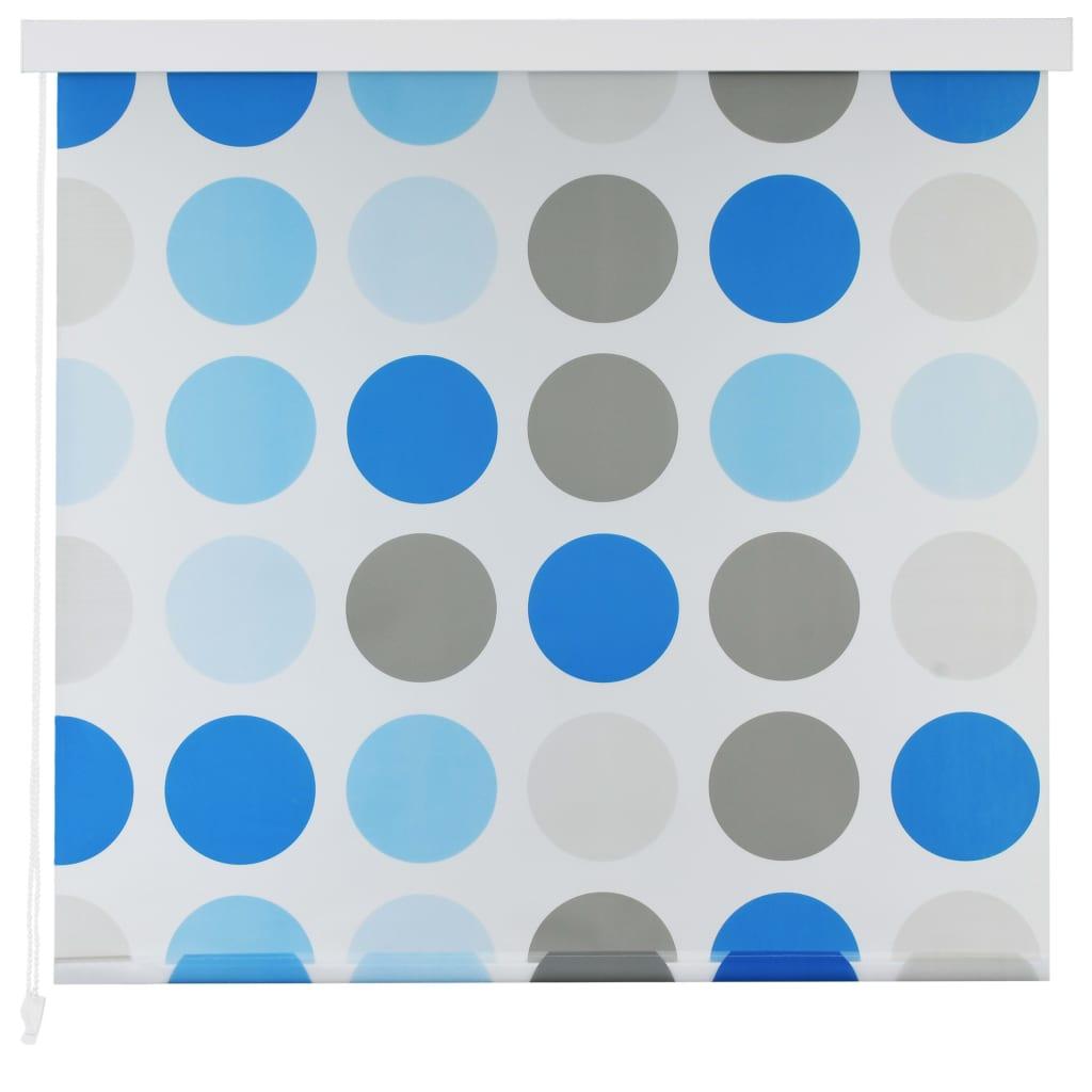 Comwinkel Rolgordijn voor douche 100x240 cm cirkel