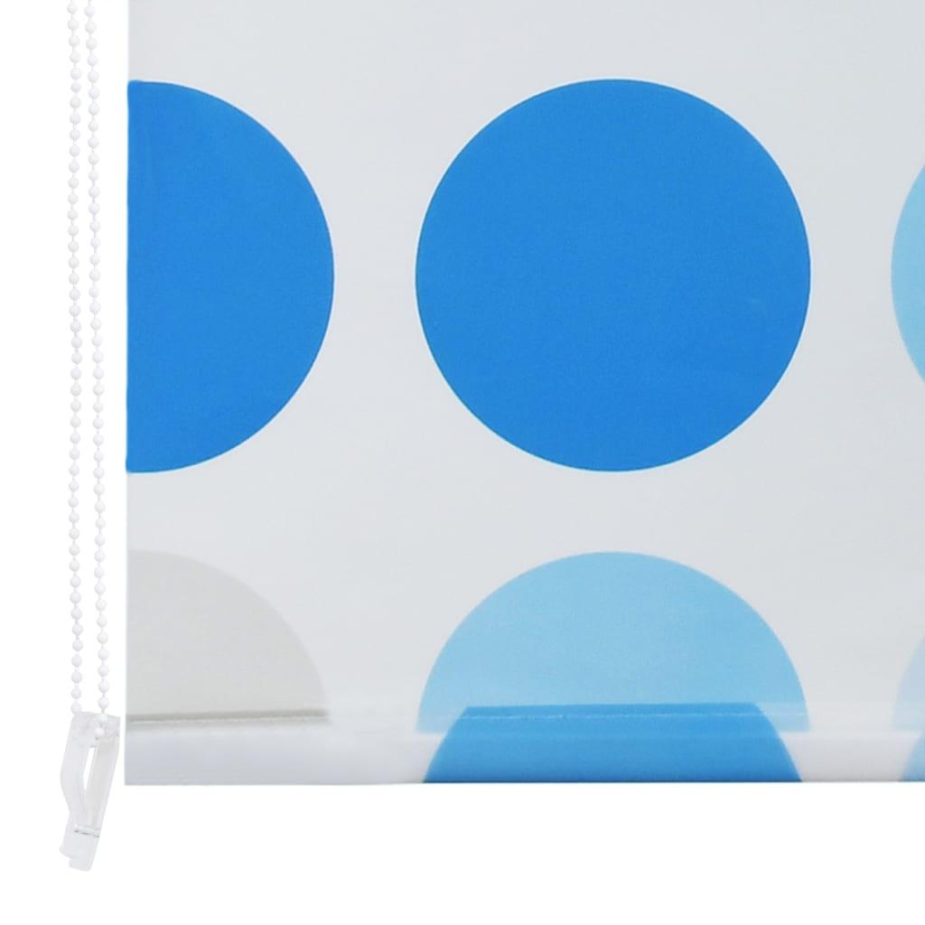vidaXL Rolo zastor za tuš 140 x 240 cm s uzorkom krugova