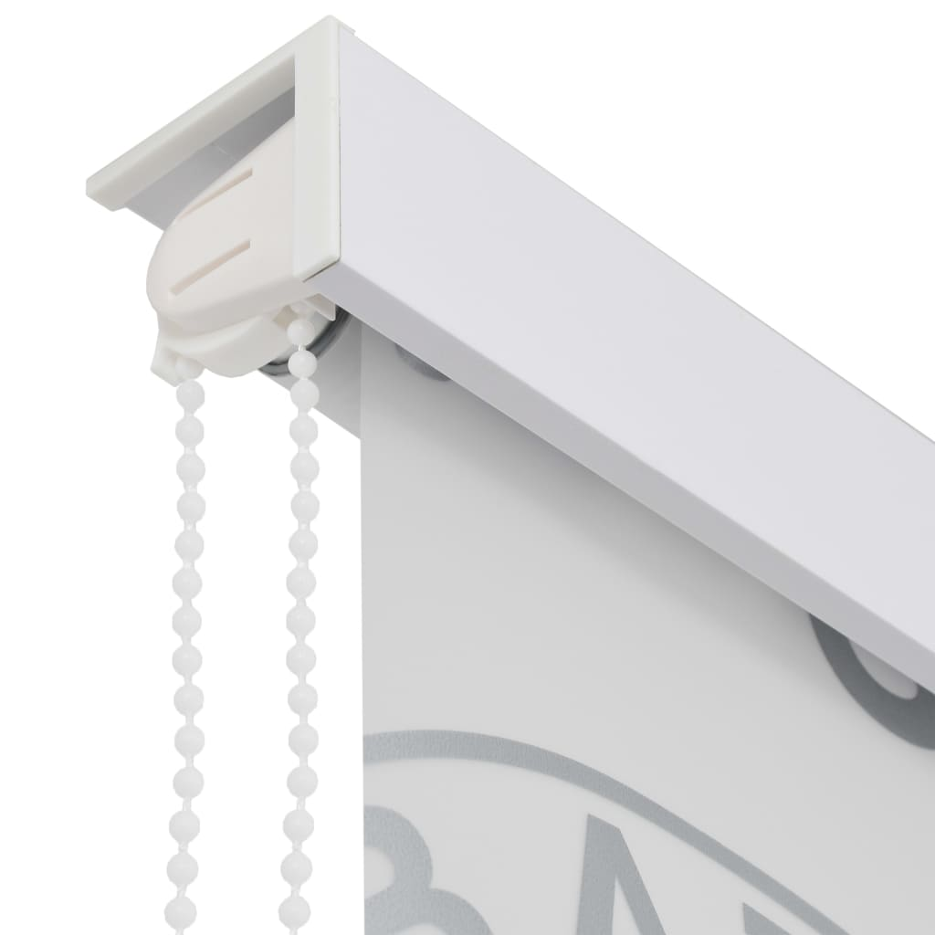 vidaXL Roleta za tuš 100 x 240 cm s raznim natpisima