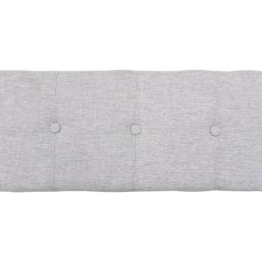 vidaXL Bänk med 3 korgar sjögräs 105x40x42 cm grå[5/9]