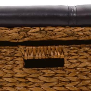 vidaXL Klupa s 2 košare od morske trave 71 x 40 x 42 cm smeđa[6/9]