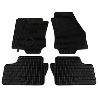 vidaXL Zestaw 4 gumowych dywaników samochodowych do Opla Astra H[1/6]