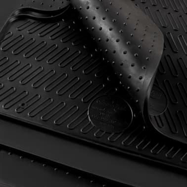 vidaXL Bilmattor set gummi 4 delar för VW Golf VII A3 Leon[6/6]