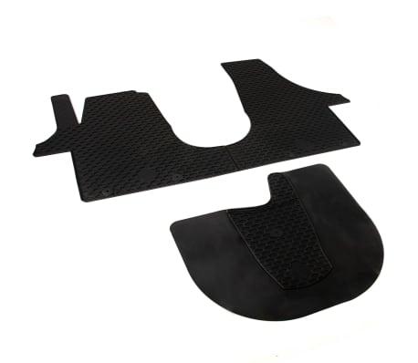 vidaxl 3x gummi fu matten vw t5 t6 multivan gummimatten automatten autoteppich ebay. Black Bedroom Furniture Sets. Home Design Ideas
