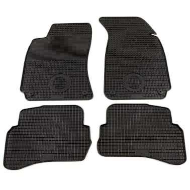 vidaXL Zestaw 4 gumowych dywaników samochodowych do VW Passat[1/6]