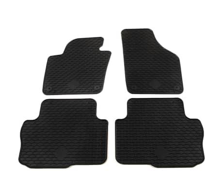 vidaXL Gummi-Fußmatten-Set 4-tlg. für Seat Alhambra Sharan[1/6]