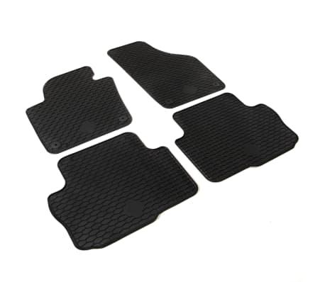 vidaXL Gummi-Fußmatten-Set 4-tlg. für Seat Alhambra Sharan[2/6]