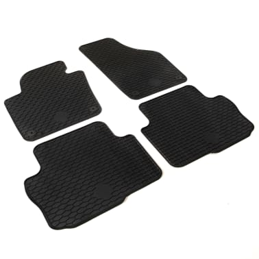 vidaXL 4 Piece Tailored Car Mat Set Rubber Seat Alhambra Sharan[2/6]