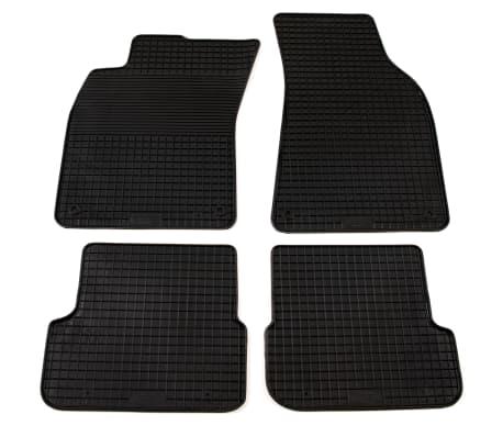 vidaXL Bilmattor set gummi 4 delar för Audi A6 (C6)[1/6]