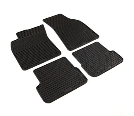 vidaXL Bilmattor set gummi 4 delar för Audi A6 (C6)[2/6]