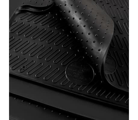 vidaXL Bilmattor set gummi 4 delar för Audi A6 (C6)[6/6]