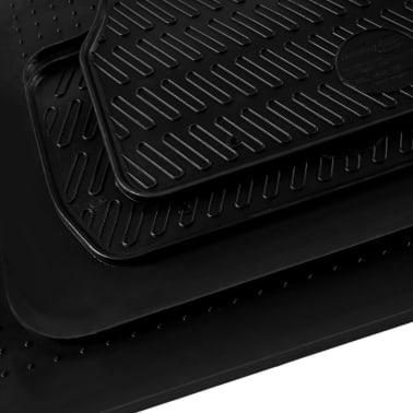 vidaXL Gummi-Fußmatten-Set 4-tlg. für Audi A6 (C6)[5/6]