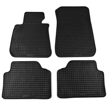 vidaXL 4 Piece Tailored Car Mat Set Rubber BMW 3 Series (E90)[1/6]